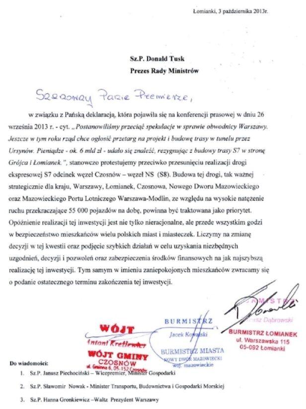List władz miejscowości Urząd miasta Łomianki