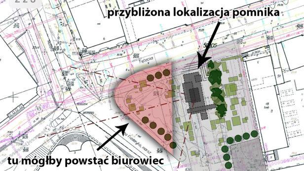 Tutaj miałby stanąć pomnik UM Warszawa