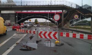 Osunięcie ziemi na budowie metra. Zamknięte most i Wisłostrada