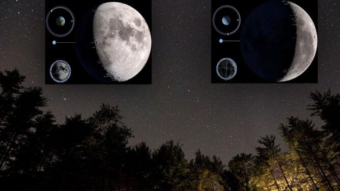 """""""Pulsacje"""" Księżyca na niebie w tym roku"""
