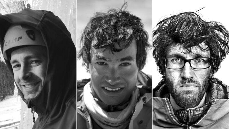W kolejności od lewej: Jess Roskelley, David Lama i Hansjorg Auer (Facebook.com)